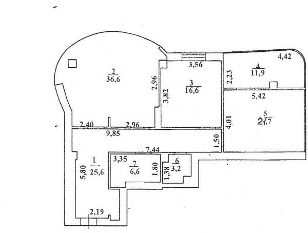 Планировки трехкомнатных квартир 125.2 м^2
